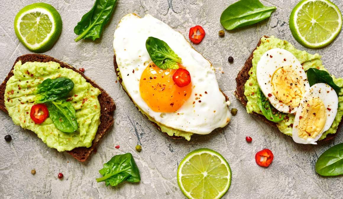 Pratos com ovos, saudável e equilibrada e saudável